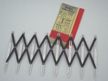 vintage Simflex folding measure, sewing tool also for drafting or lettering