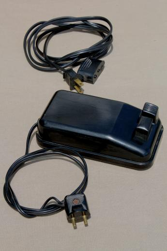 vintage Singer 301a power cord foot pedal controller replacement part fits featherweight sewing machine Laurel Leaf Farm item no s52788 1 vintage singer 301a power cord & foot pedal controller replacement  at alyssarenee.co