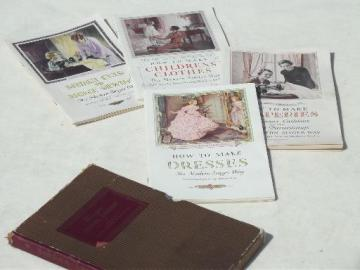 vintage Singer sewing tutorial booklets, sew early 30s dresses, home fashions