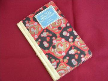 vintage Sonnets from the Portuguese Elizabeth Browning w/art binding
