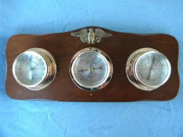 vintage Springfield weather station w/eagle barometer/thermometer etc