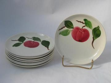 vintage Stetson china hand-painted Red Apple pottery plates lot, Rio