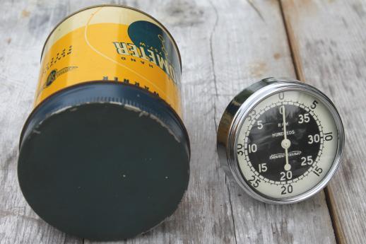 stewart warner 757w hand tachometer in tin case 1940s garage or vintage stewart warner 757w hand tachometer in tin case 1940s garage or racing pit