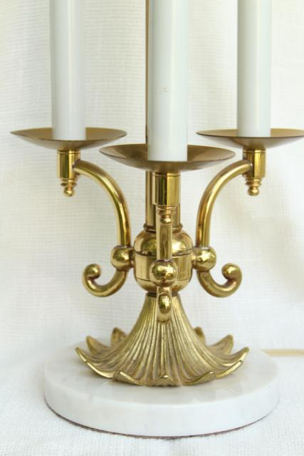 Vintage Stiffel French Bouillotte Lamp Heavy Brass