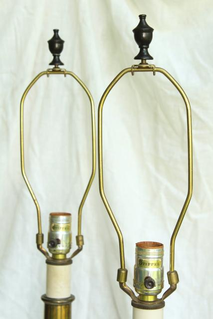 Vintage Stiffel Lamps Barley Twist Heavy Brass