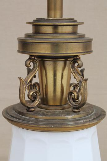 Vintage Stiffel Solid Brass Table Lamp 60s French