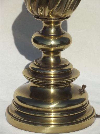 Vintage Stiffel Solid Brass Table Lamp Three Way Stiffel Torch