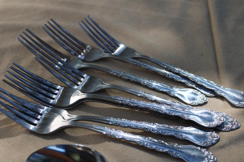 vintage Sunshine - Korea Classic Rose stainless flatware service for 8