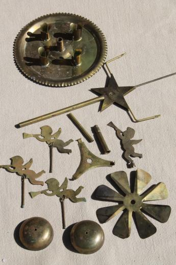 vintage Swedish Christmas candle spinners w/ angels, brass ...