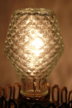 vintage Sylvania novelty edison light bulb, clear quilted glass w/ beehive lantern shape