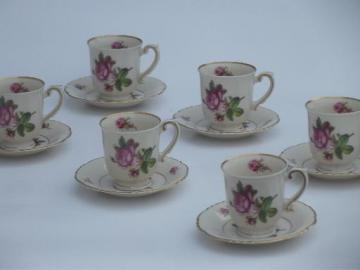 vintage Syracuse china, Victoria rose  demitasse espresso coffee cups