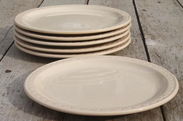 & vintage Syracuse china adobe tan ironstone restaurant ware diner plates