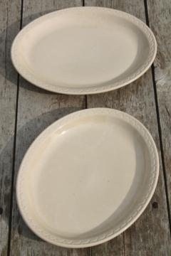 vintage Syracuse china adobe tan ironstone restaurant ware diner plates