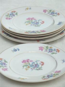 vintage Syracuse china plates w/ round Aberdeen china thistle mark