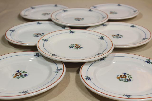 vintage Syracuse china restaurant ware,heavy ironstone sandwich plates, french country style sprig