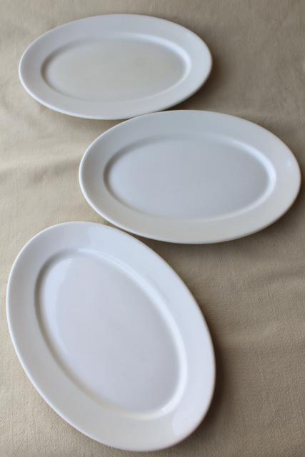 vintage Syracuse china white ironstone oval lobster dinner plates or platters : lobster dinner plates - pezcame.com