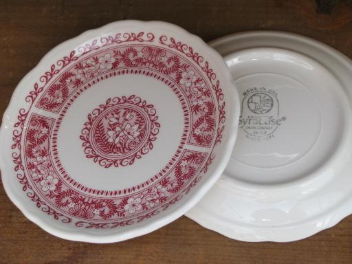 vintage Syracuse restaurant ironstone china, Strawberry Hill plates