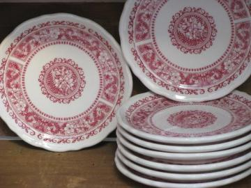 vintage Syracuse restaurant ironstone china, Strawberry Hill plates