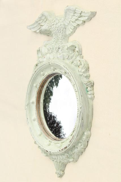 Vintage Syroco Federal Eagle Frame W Shabby White Paint