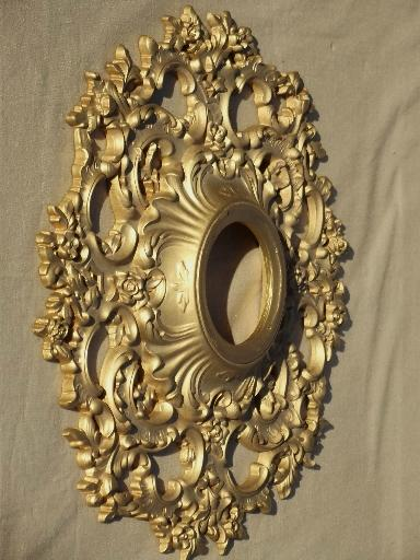 Vintage Syroco Wood Starburst Frame Ornate Gold Rococo