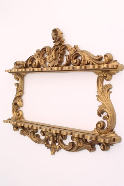 vintage Syroco spoon holders, ornate gold wall mount racks perfect to hold necklaces & jewelry