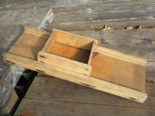 vintage T-D slaw board or cabbage/kraut cutter from old farm estate