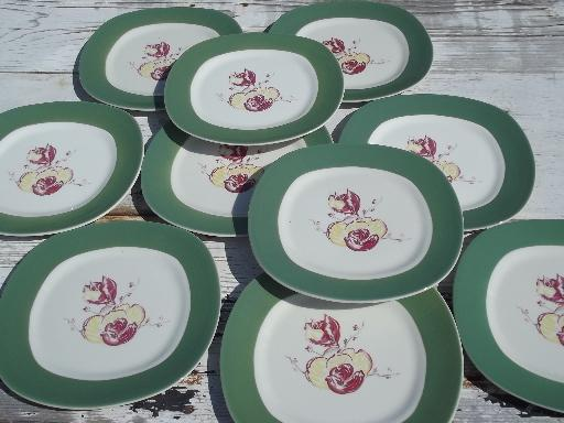 vintage TS&T pottery, Taylor, Smith & Taylor magnolia china salad plates