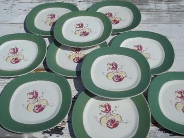 vintage TS&T pottery, Taylor, Smith & Taylor magnolia china salad plates