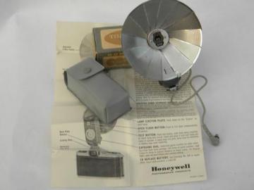 vintage Tilt-A-Mite photo camera flash unit w/original box&case