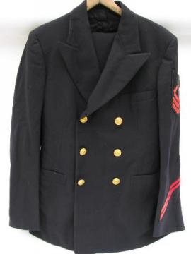 vintage US Navy jacket & pants w/metal bullion patch