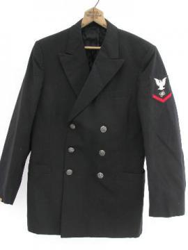 vintage US Navy officer or sailor uniform coat/jacket w/silver buttons