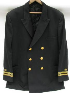vintage US Navy Supply Corps officer's jacket w/bullion oak leaf patches & braid