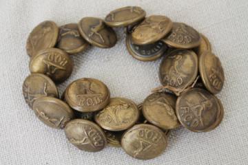 vintage US Post Office department uniform buttons, P.O.D. metal buttons