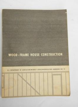vintage USDS Wood-Frame house construction handbook for carpenters