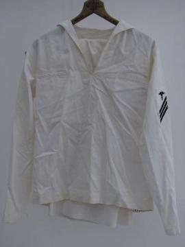 vintage USN medical corpsman work whites jumper sailor's uniform USS Boxer