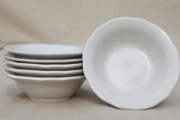 vintage Ultima Japan / Homer Laughlin white ironstone restaurant china soup bowls