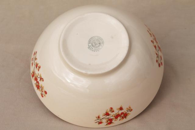 vintage Universal pottery bittersweet serving bowl, Thanksgiving fall harvest table decor