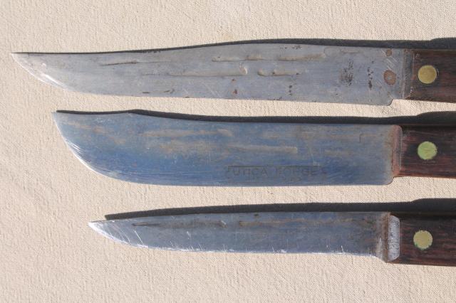 Vintage Utica Forge Knife Set Old High Carbon Steel