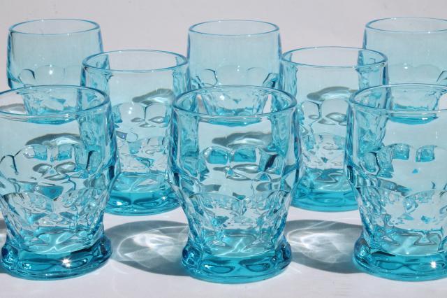 Vintage Viking Glass Georgian Colonial Blue Aqua Drinking