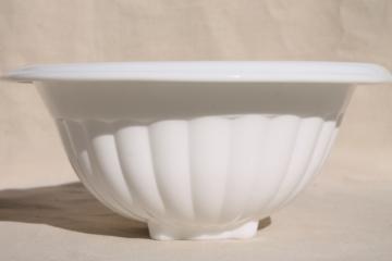 vintage Vitrock white milk glass mixing bowl, farmhouse style depression glass kitchenware