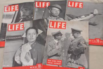 vintage WWII LIFE magazine lot 5 1941 magazines World War Two photos & ads