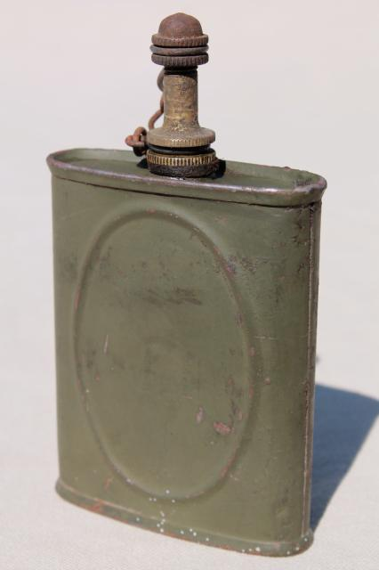 Vintage Wwii Army Oil Can For Gun Oiling Maintenance