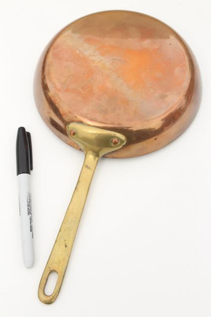Vintage Waldow Copper Saute Pan Or Saucepan Small Saucier