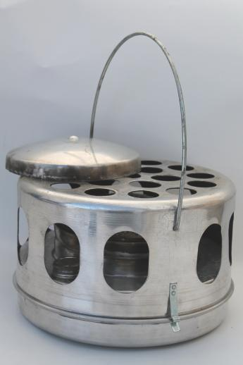 vintage Wards Dana portable safety heater, white gas Coleman fuel stove for camping
