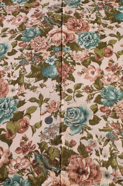 Vintage Waverly Spring Song Fabric Fl Print Cotton Home Decor Decorator Material