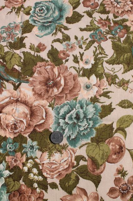 vintage home decor fabric vintage waverly song fabric floral print cotton 11797