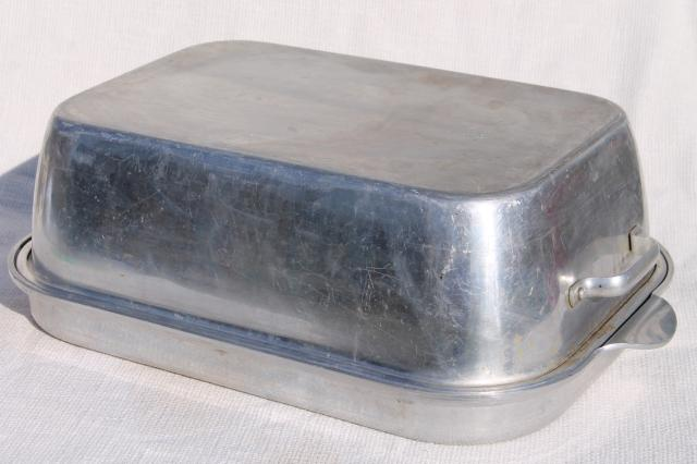 vintage wear ever aluminum 818 u0026 918 roaster u0026 cover large turkey roasting pan
