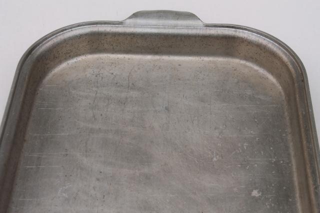 Vintage Wear Ever Aluminum Baking Dish Roaster Cover For