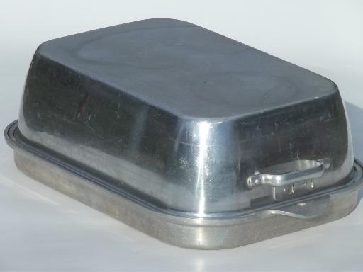Vintage Wear Ever 818 918 Aluminum Roaster Huge Roasting