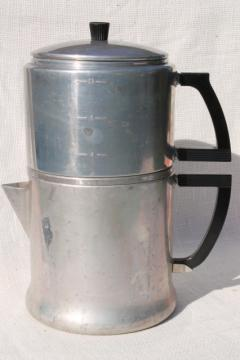 vintage WearEver aluminum stovetop dripolator coffeepot 12 cup coffee maker